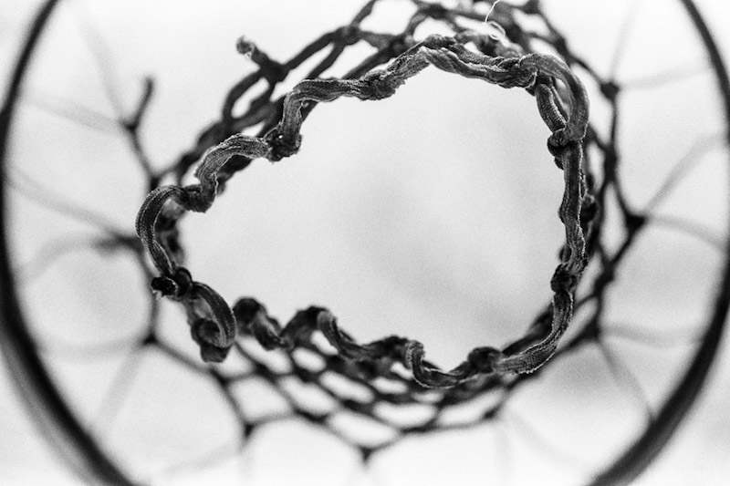 Underside of basketball net